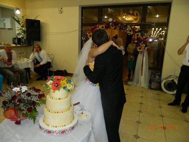 Торт на весіллі в українському стилі, кондитер - Уляна Коцаба з Івано-Франківська