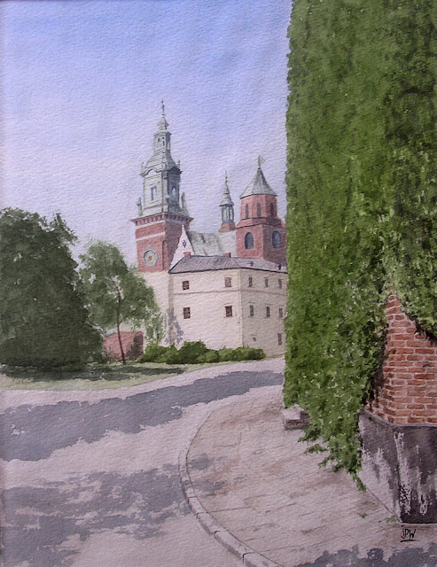 aquarelle-Wawel-Cracovie