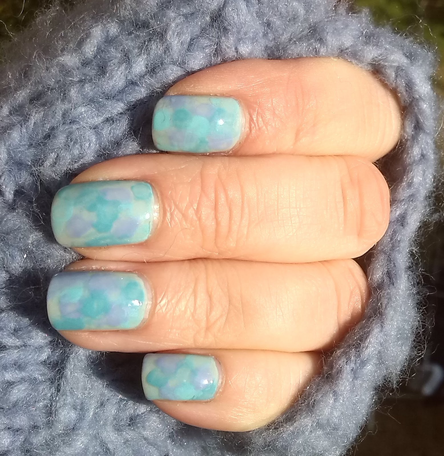 Watercolour mani with Nails Inc pastel shades