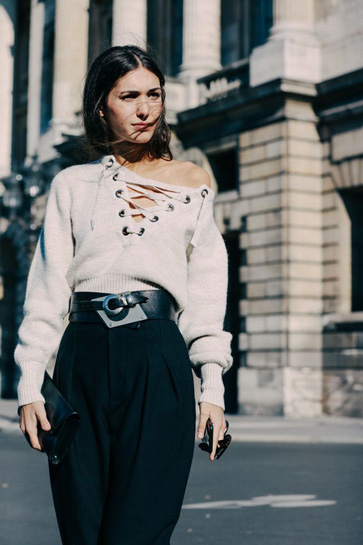 isabel marant lace up sweater