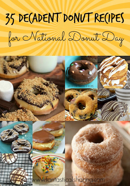 35 Decadent Donut Recipes for National Donut Day #collection #collage #recipe #donut #doughnut #breakfast #roundup