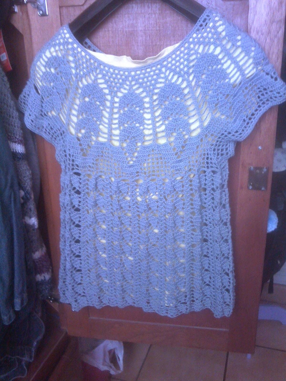 Entretejida: Blusa de hojas a crochet / Patrón