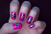 I added the skull and crossbones design from BM 225 in Konad Special Polish .