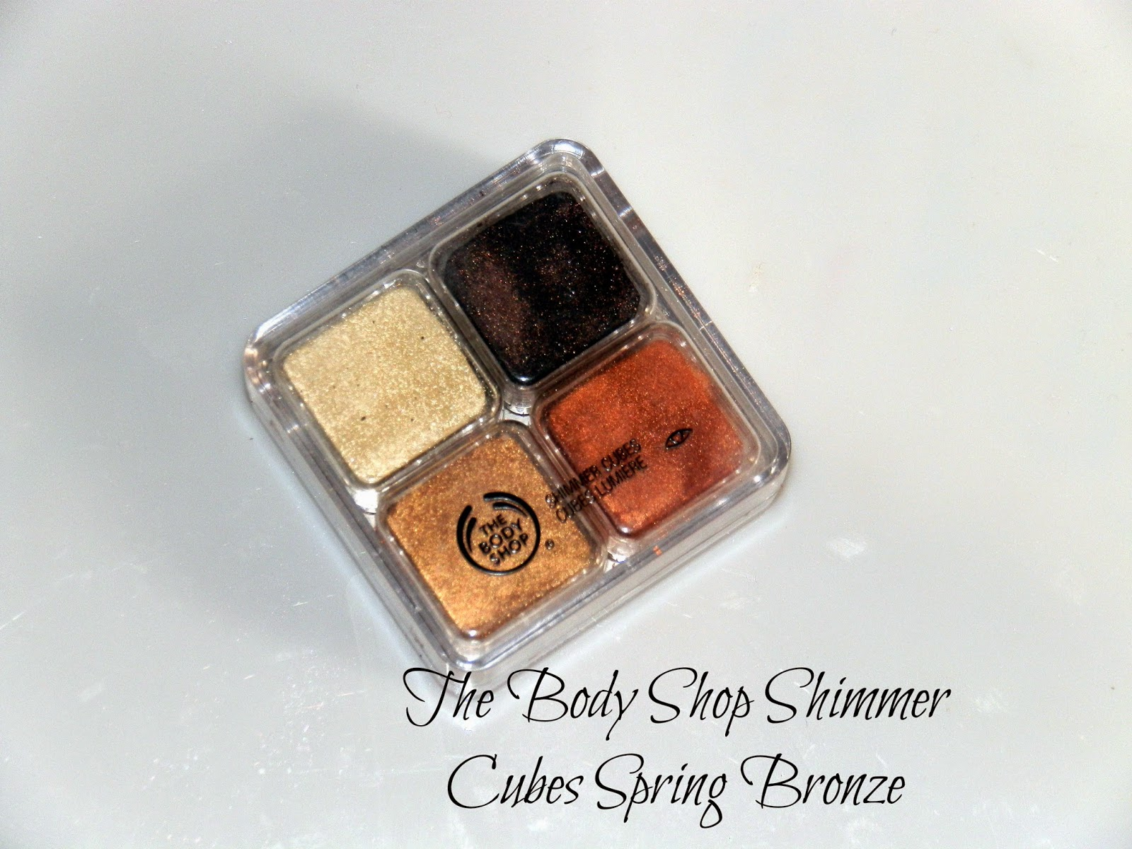 The Body Shop Shimmer Cubes Spring Bronze Swatches