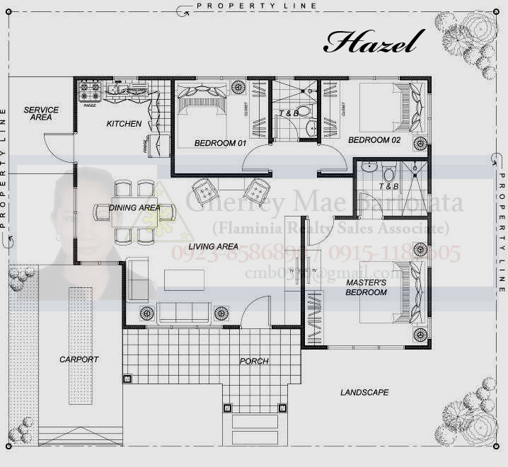 280 Square Meter Floor Plan 3 Bedroom Philippines Zen