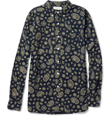 YMC Paisley Cotton Shirt