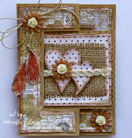 Flip card video tutorial by Gabrielle Pollacco using Bo Bunny 'Star-Crossed' collection papers and embellishments