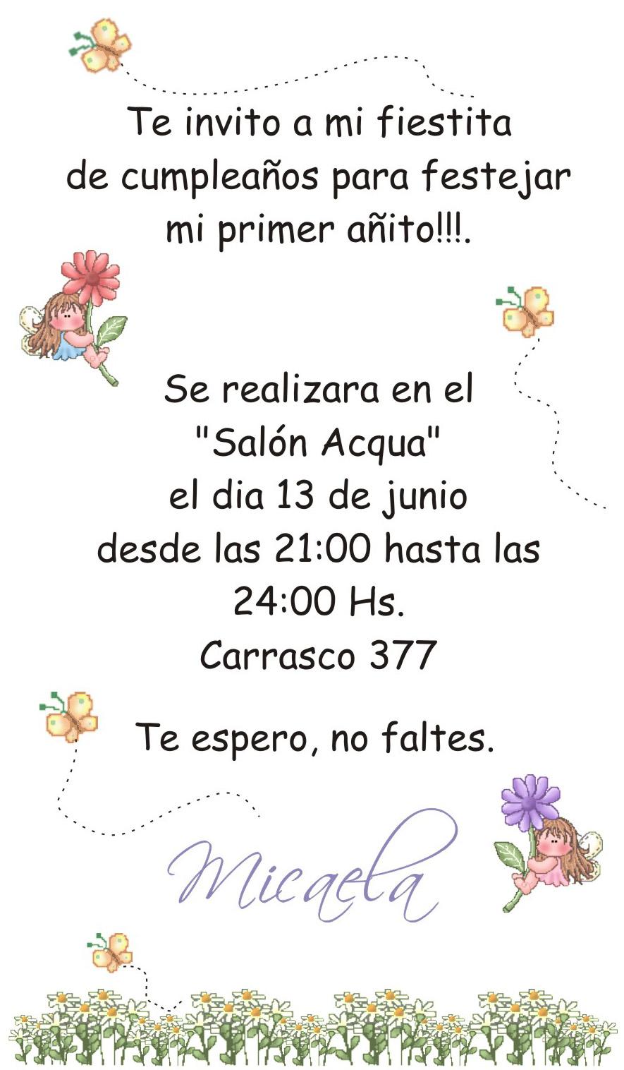 Tarjetas Artesanales Diana Rolandi: Invitaciones de cumpleaños ...