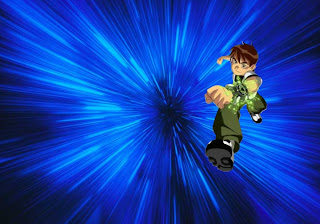Ben Ten 10 Posters wallpapers in running teen hero in Vortex background