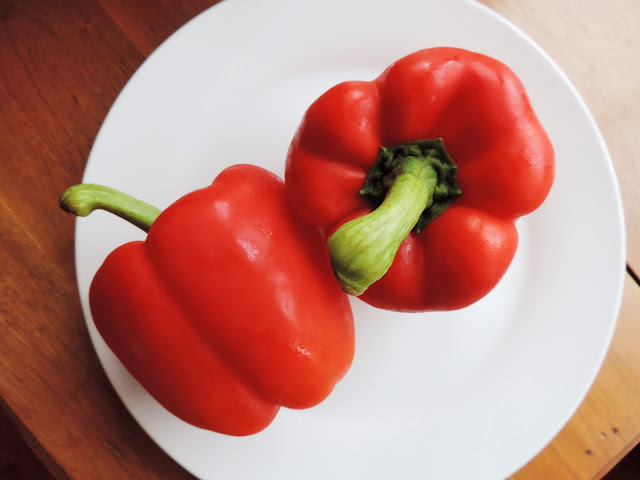 red peppers grill