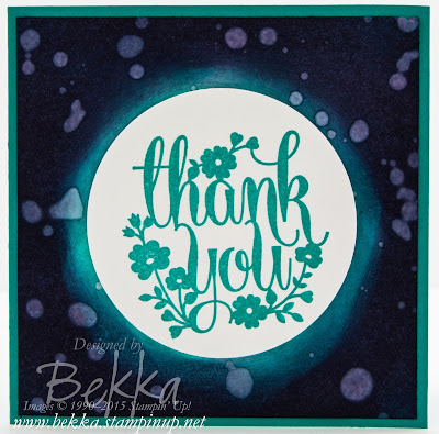 A Whole Lot of Lovely Night Sky Technique Thank You Cards