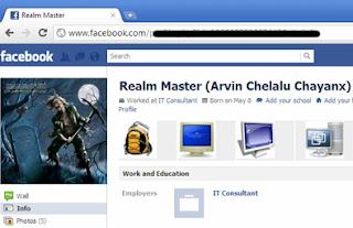 Profil Facebook yang tidak disarankan