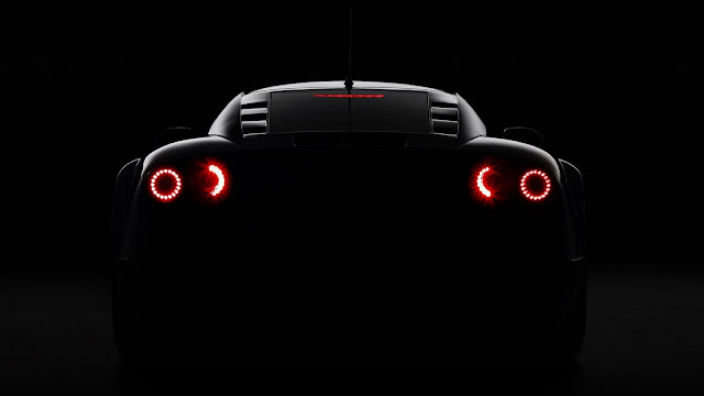 Supercar rear lights HD Wallpaper