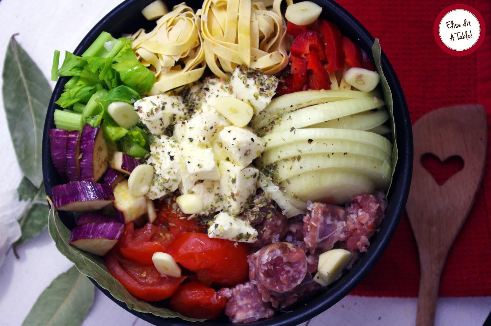 recette one pot pasta méditerranéen