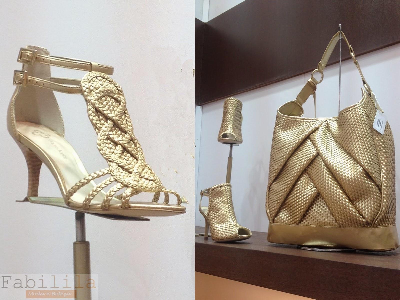 Sandália, Sapato e Bolsa -Trama Cannage