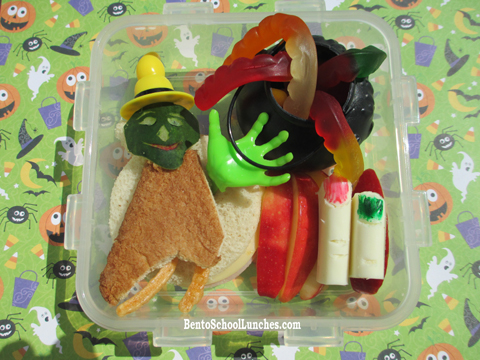 Halloween witch bento lunch