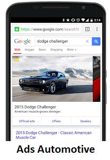 Tampilan iklan otomotif pada google