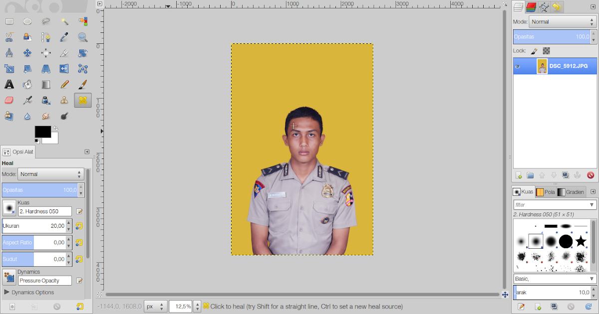 MUMULALA: Cara membuat foto ukuran 3x4, 4x6 di GIMP