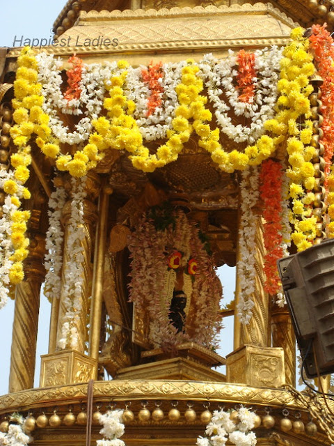 Clay idol of Lord Krishna in the Vittal Pindi procession+udupi krishna