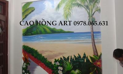 vẽ tranh tường 3d,vẽ tranh tường phong cảnh