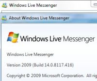 downgrade a Messenger 2009