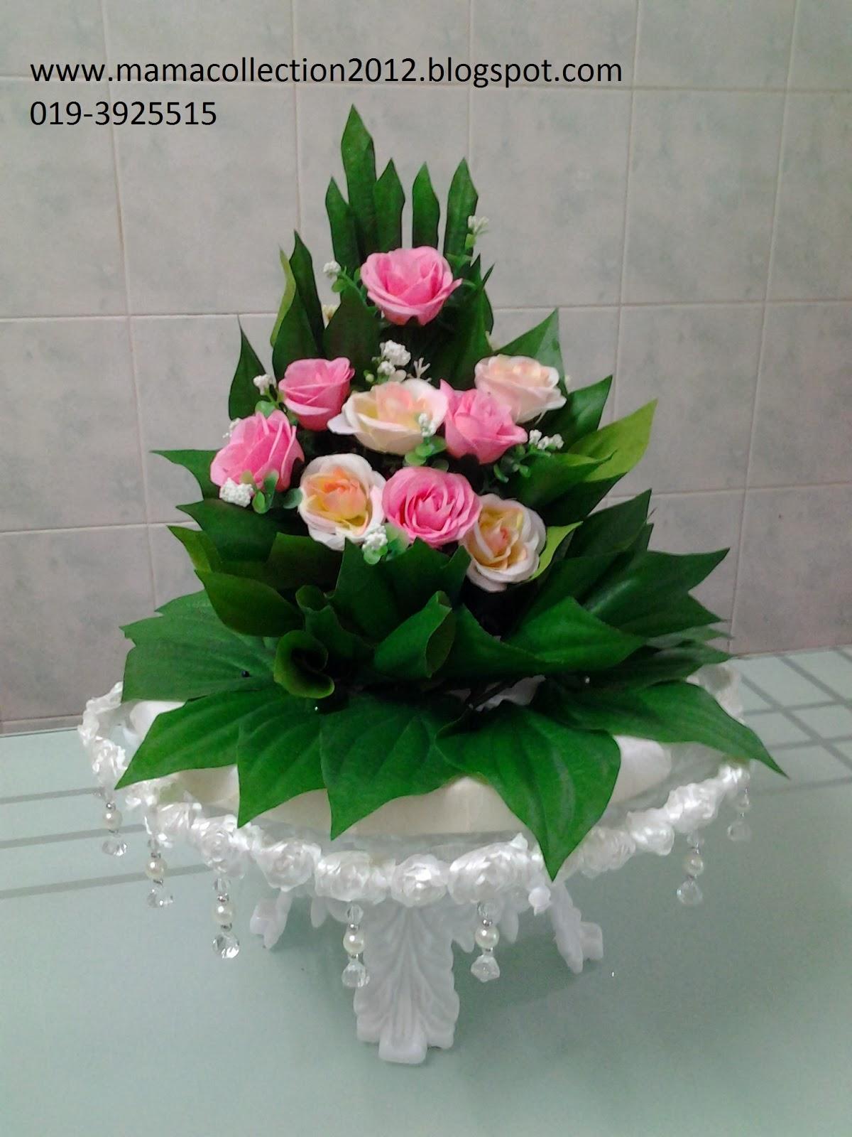 gubahan hantaran pink turquoise enterprise   koleksi sirih