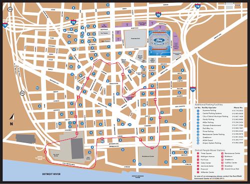 Detroit metro system map