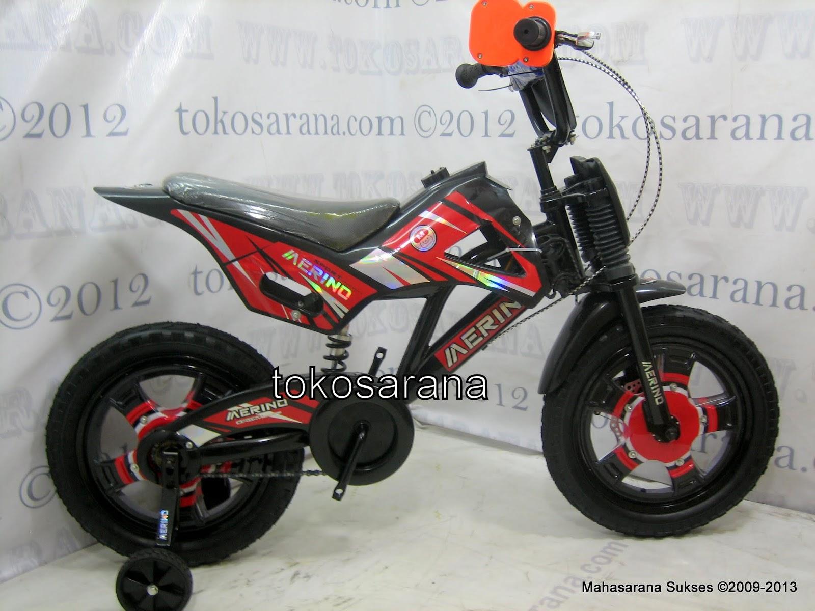 Sepeda Anak Merino Motocross 16 Inci Red ~ News Untuk Anak