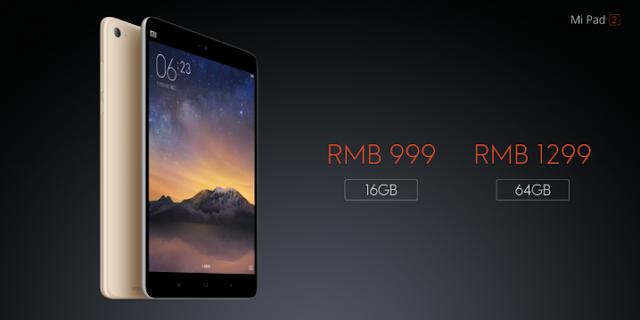 Preço Xiaomi Mi Pad 2