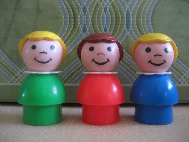 Six Balloons Vintage Delights: Vintage Fisher Price Little People