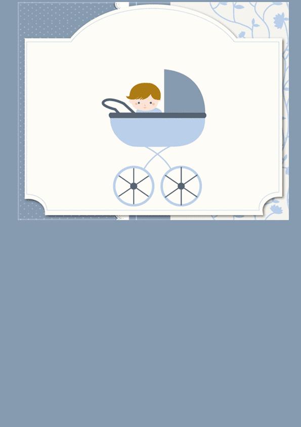 Tarjeta en azul para niño