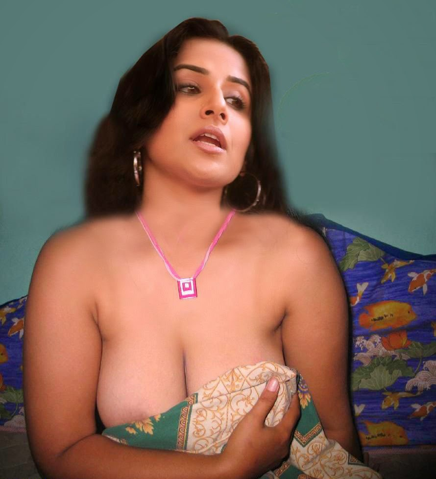 Vidya Balan Full Nude Exposing Chuchi Giving Pose For Movie Fake Fucking