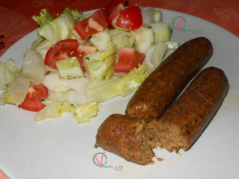 Vegetal... y tal: Salchichas veganas de soja texturizada