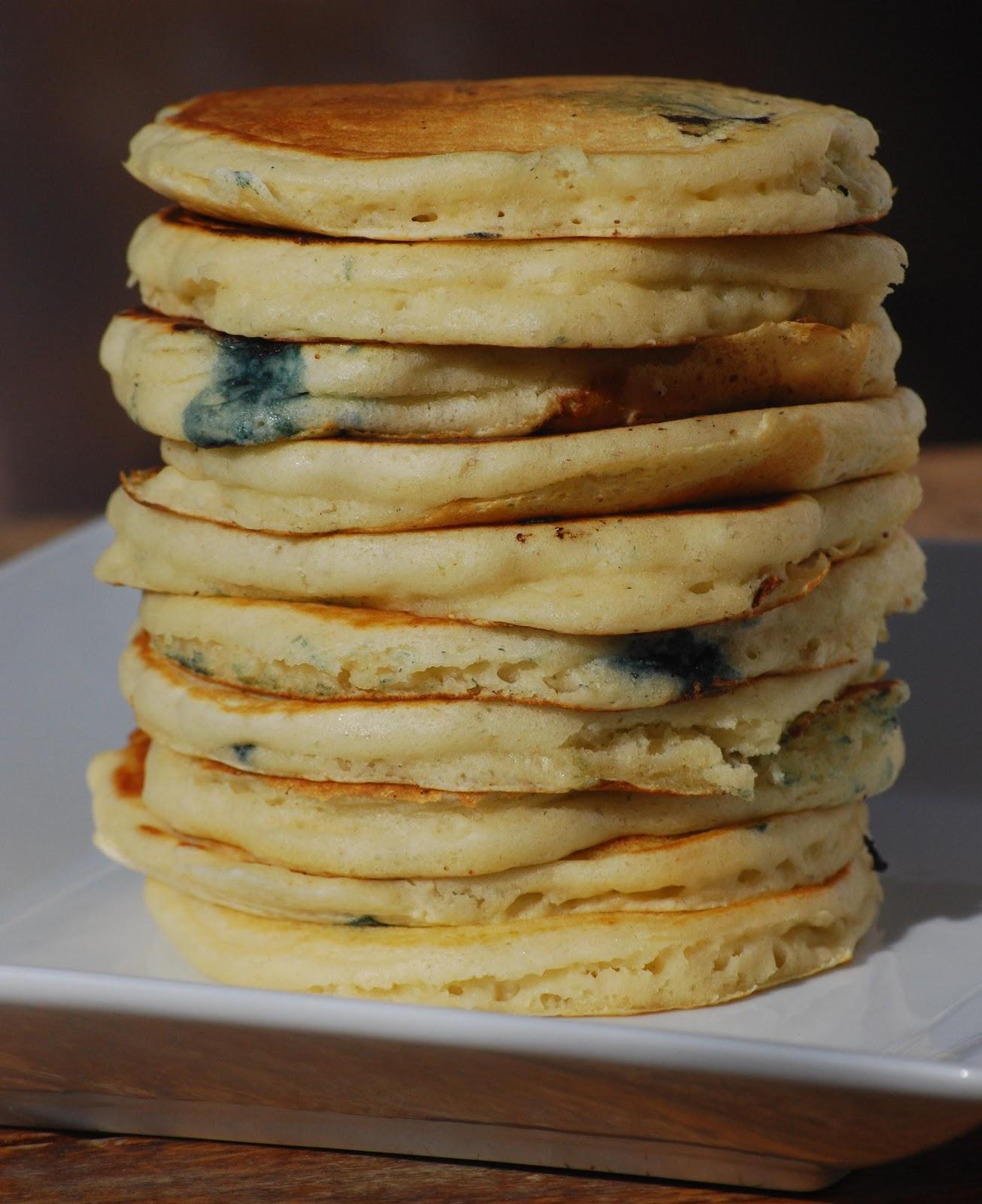 blueberry buttermilk pancakes makes approximately 16 pancakes i halved ...
