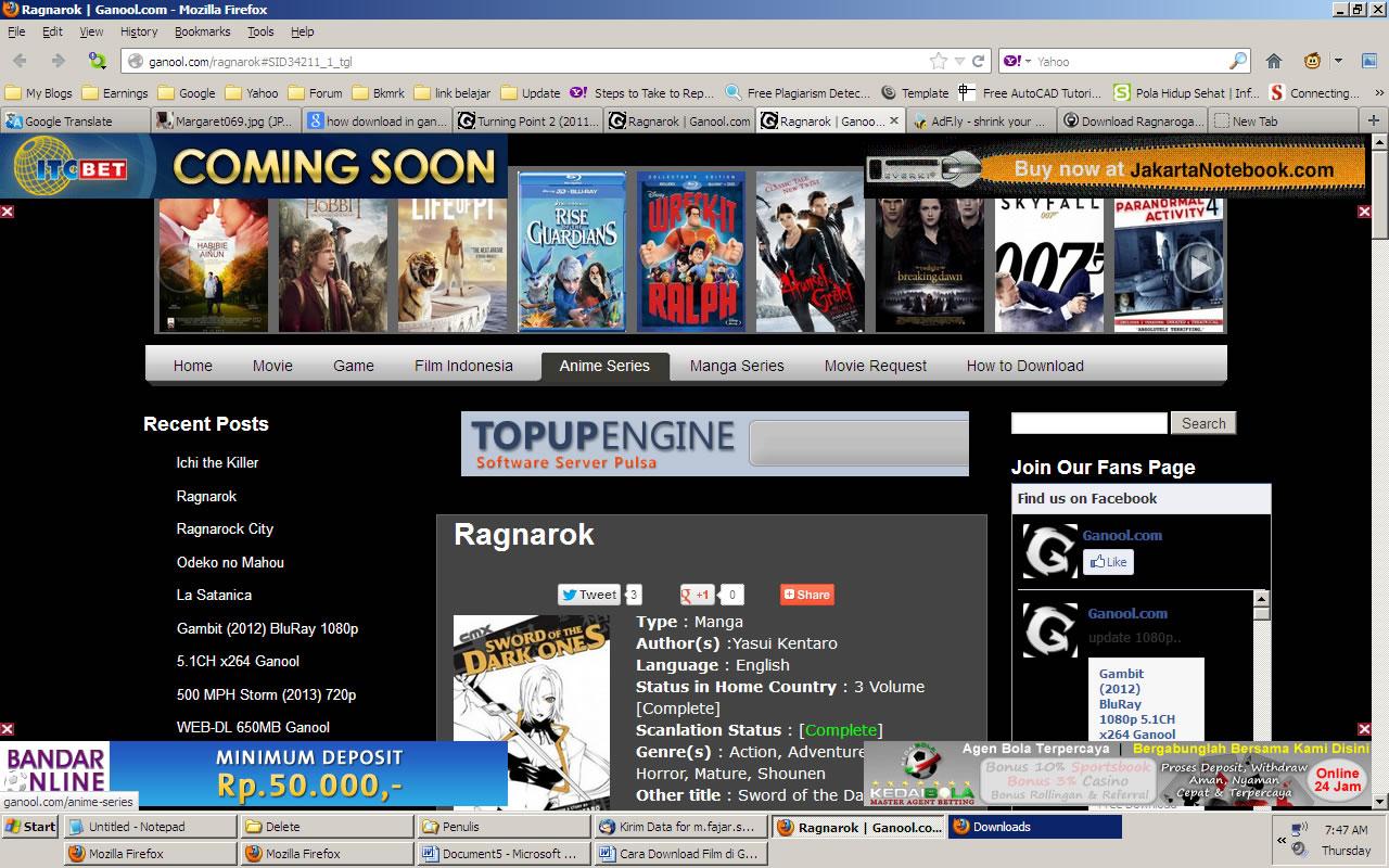 Cara Download Gratis Film Di Ganool