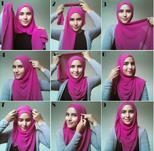 Kreasi Cara Pakai Jilbab Pashmina Chiffon Instan Terbaru