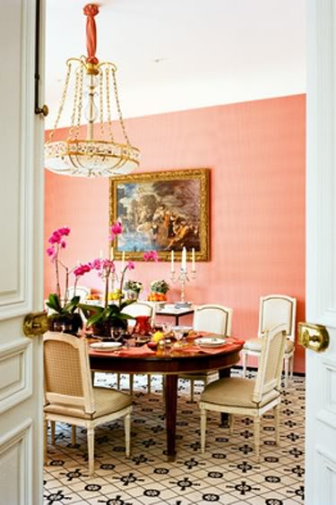 Beyond the aisle summer fall color coral and peach in for Coral walls living room