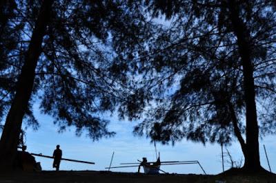 Objek Wisata Pantai Kata Pariaman Sumatera Barat (Sumbar)