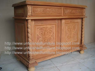 furniture klasik bufet ukir klasik jepara bufet solid mahoni mentah unfinished jepara supplier bufet klasik