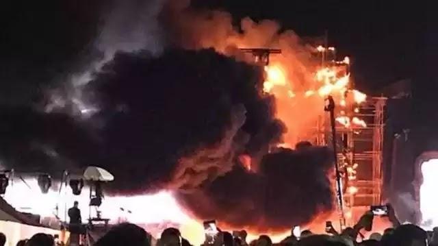 Εκκενώθηκε χώρος μουσικού φεστιβάλ στη Βαρκελώνη λόγω πυρκαγιάς (Βίντεο)