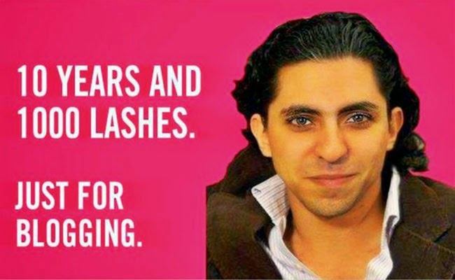 Blogger Raif Badawi will get 10 years Imprisonment and 1000 Lashes Because of Blogging