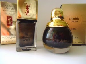 [Dior&YSL] Mes vernis noirs