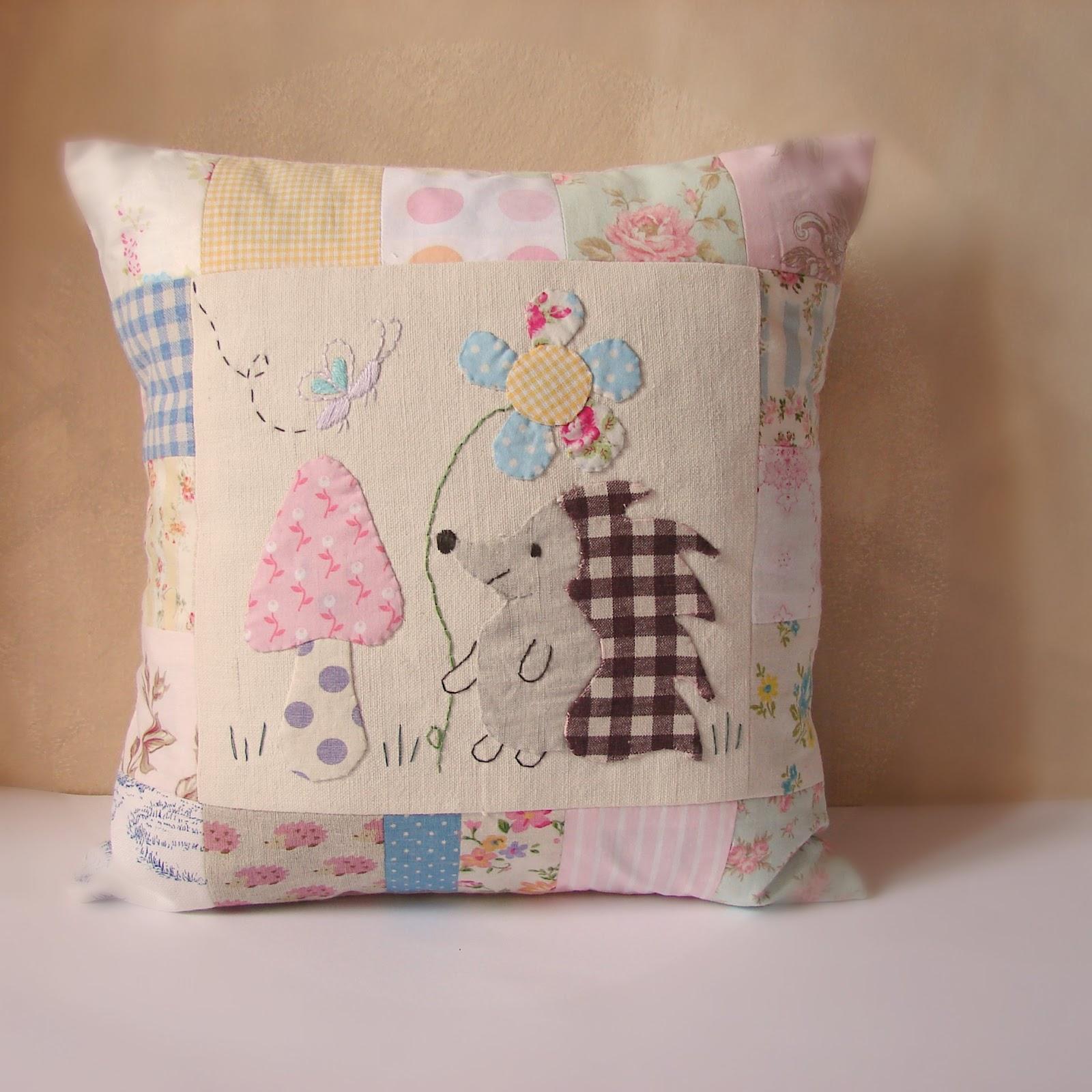 Roxy Creations Hedgehog Applique Cushions