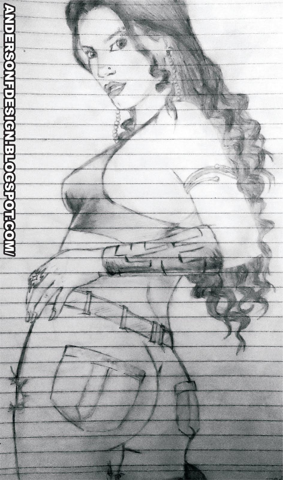 Imagens De Desenho De Mulher Feito A Mão