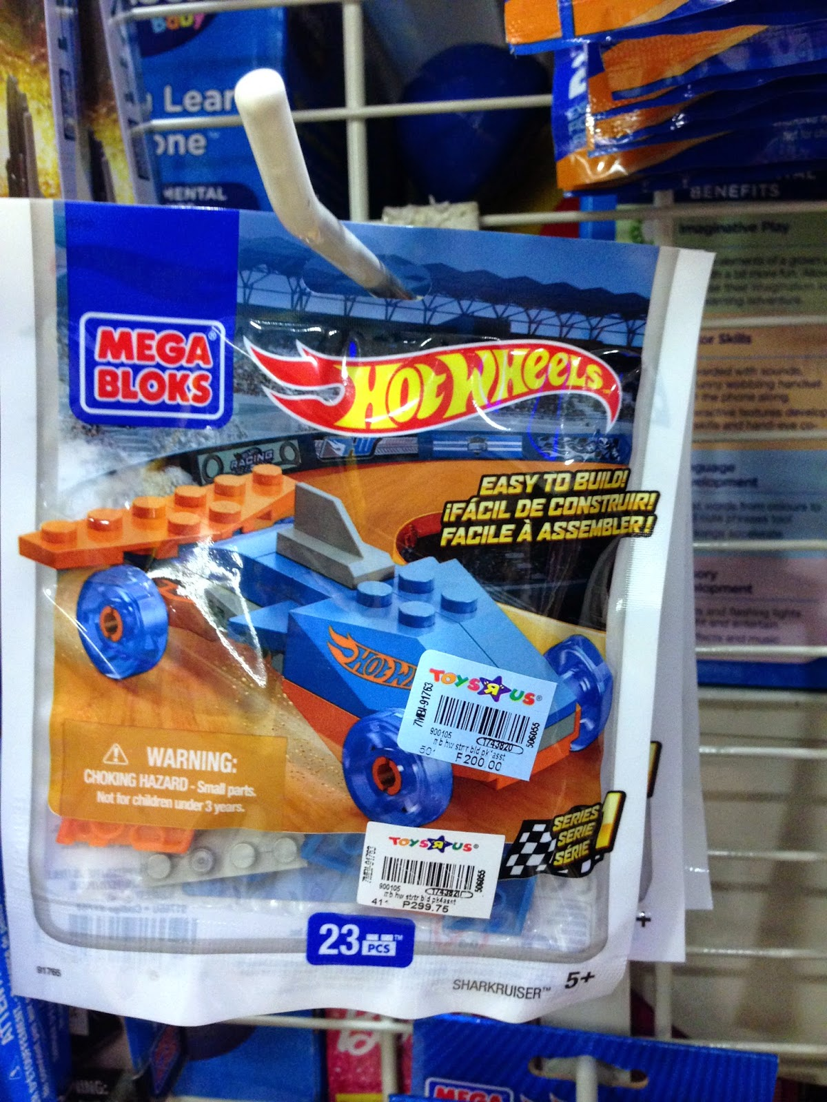 Toy Sale in Manila, Philippines 2015 : Hot Wheels Mega Bloks Surprise Toys on SALE (Racers)