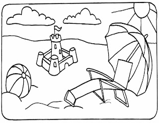 beach coloring pages, kids coloring pages