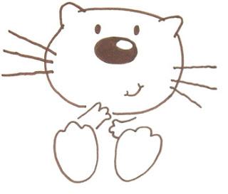кошка рисунок