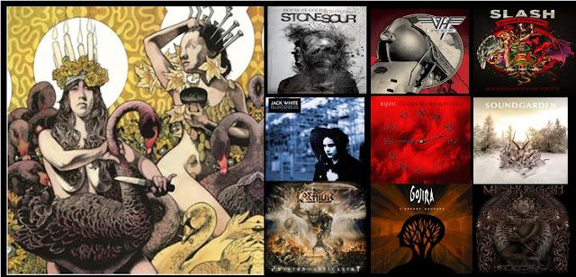 Los Mejores discos de hard rock y metal 2012