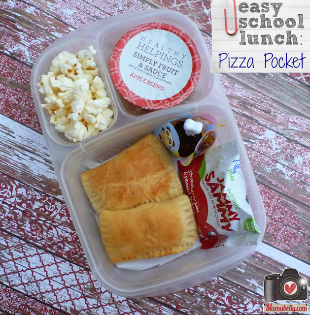 Fast and Easy school lunch pizza pockets - mamabelly.com