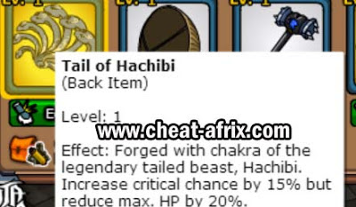 Free Back Item Tail of Hachibi Ninja Saga